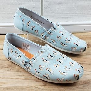 BOBS Skechers Light Blue Casual Canvas Shoe Droopy